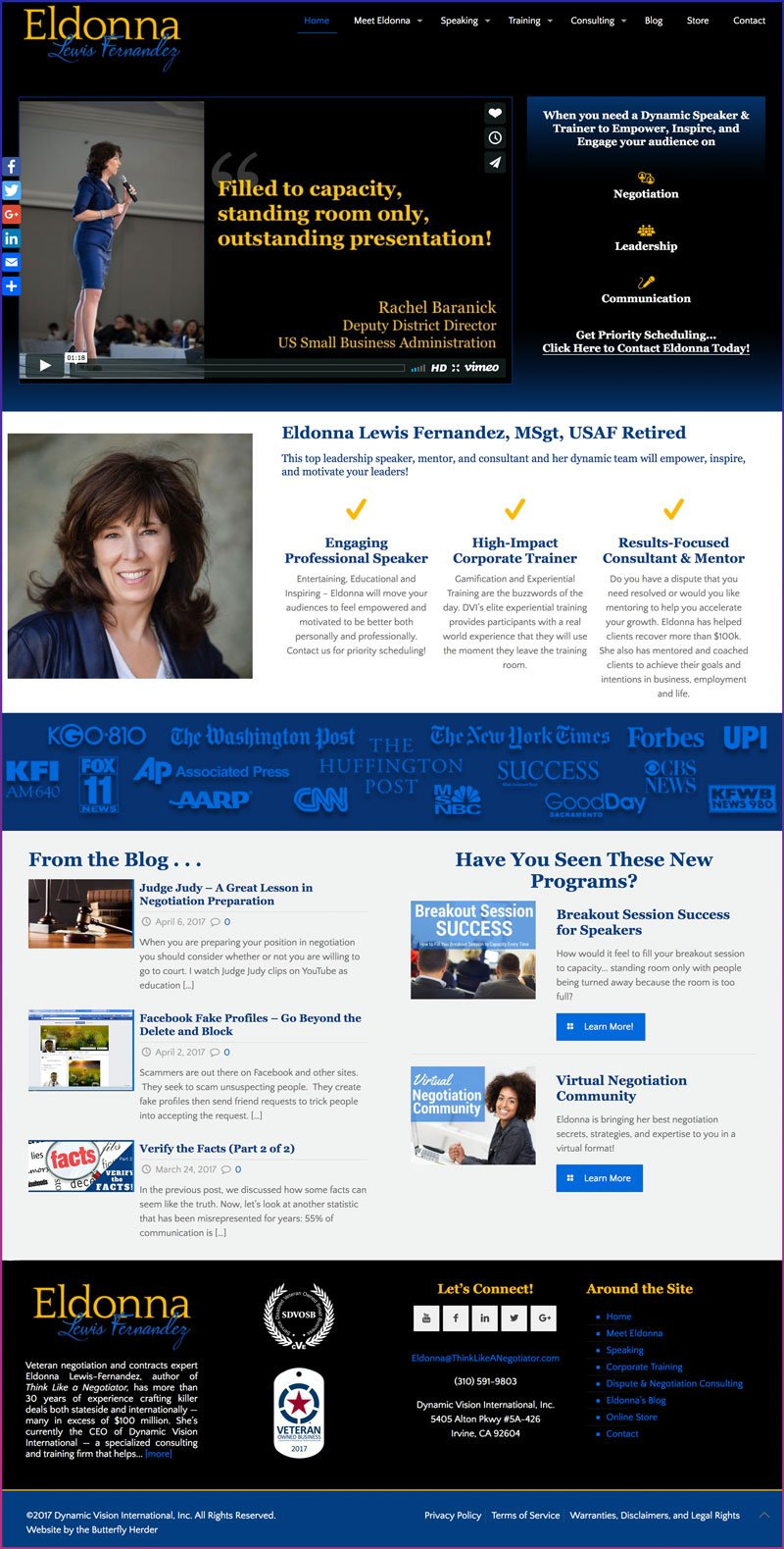 Eldonna Lewis Fernandez, Accredited Speaker, Author, Negotiations Expert