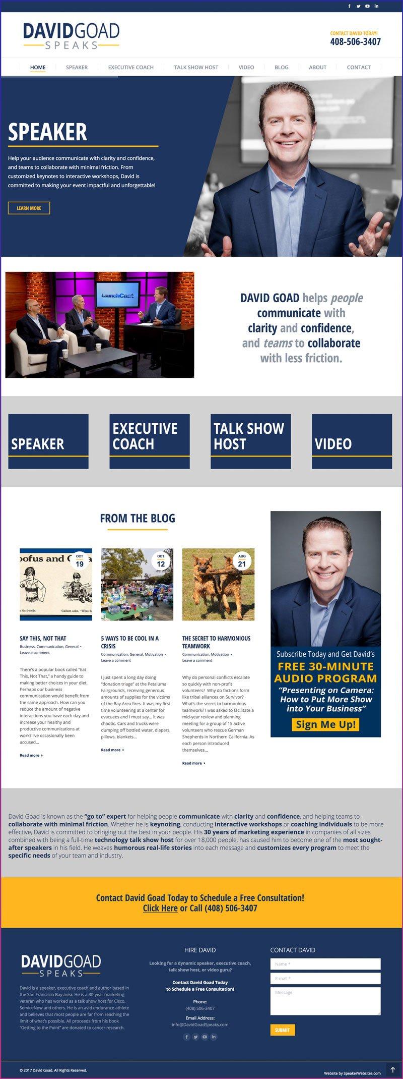 David Goad, Speaker, Executive Coach, Talk Show Host