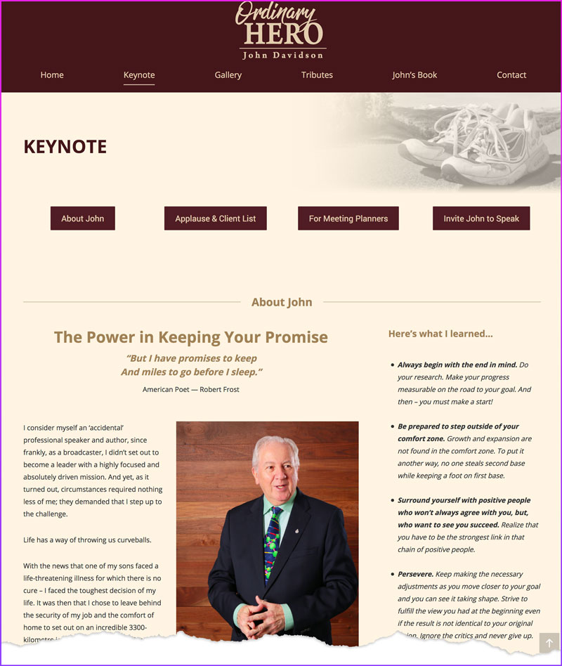 John Davidson, Professional Speaker & Author