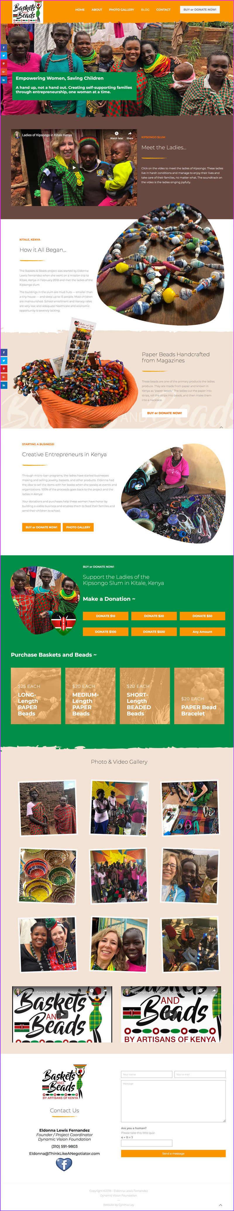 Baskets & Beads Kenya - Non-Profit Organization Website