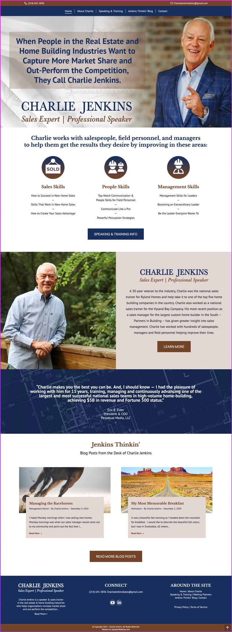 Charlie Jenkins - Sales Expert & Professional Speaker