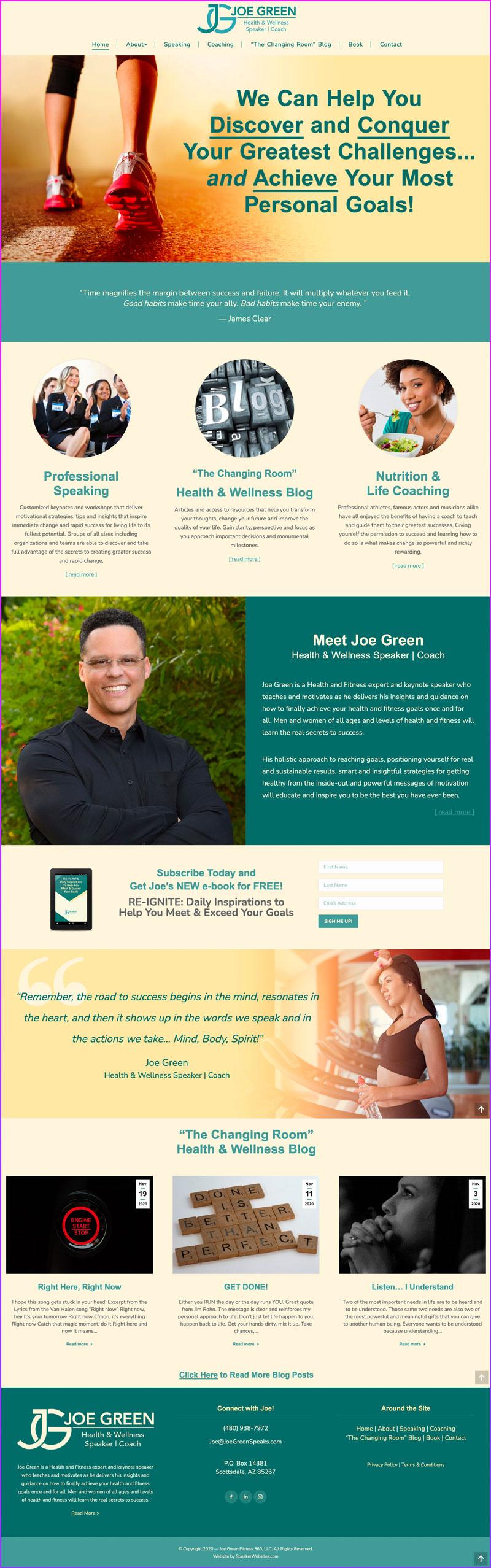 Joe Green ~ Health & Wellness Speaker & Coach