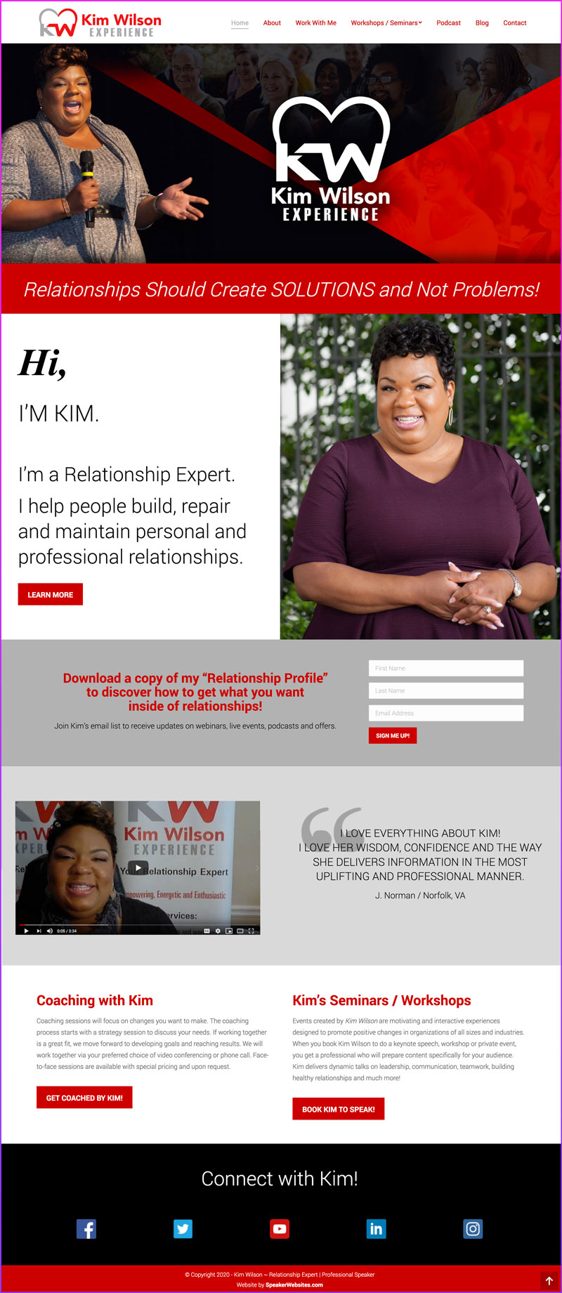 Kim Wilson - Professional Speaker & Relationship Coach