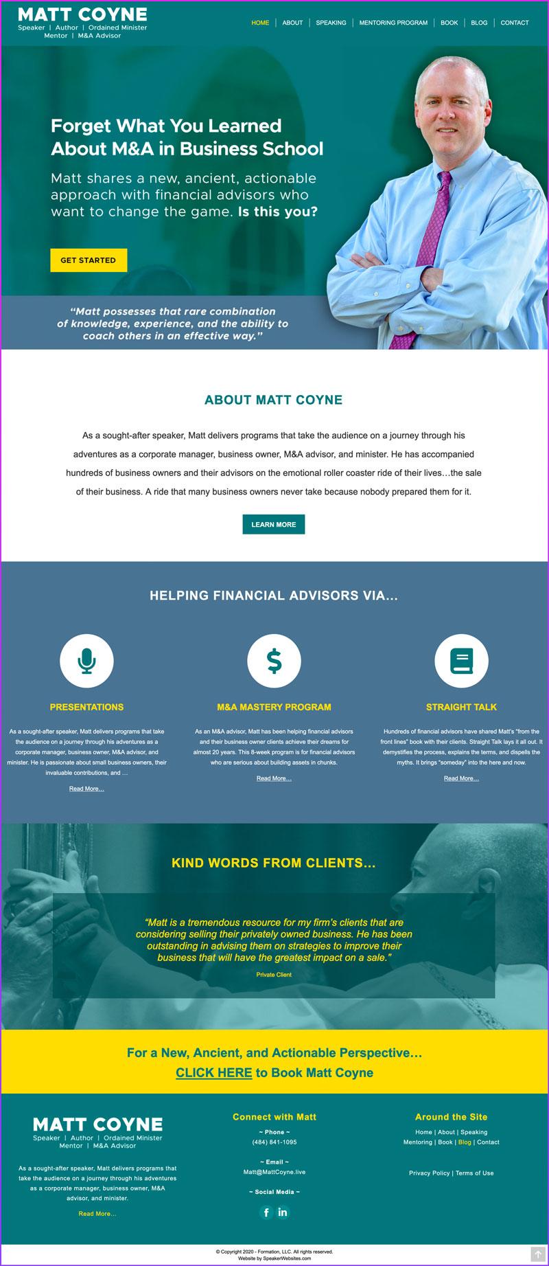 Matt Coyne - Financial Advisor / Speaker