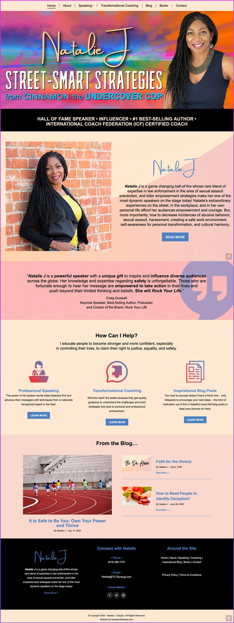 Natalie J - Personal Safety / Inspirational Speaker