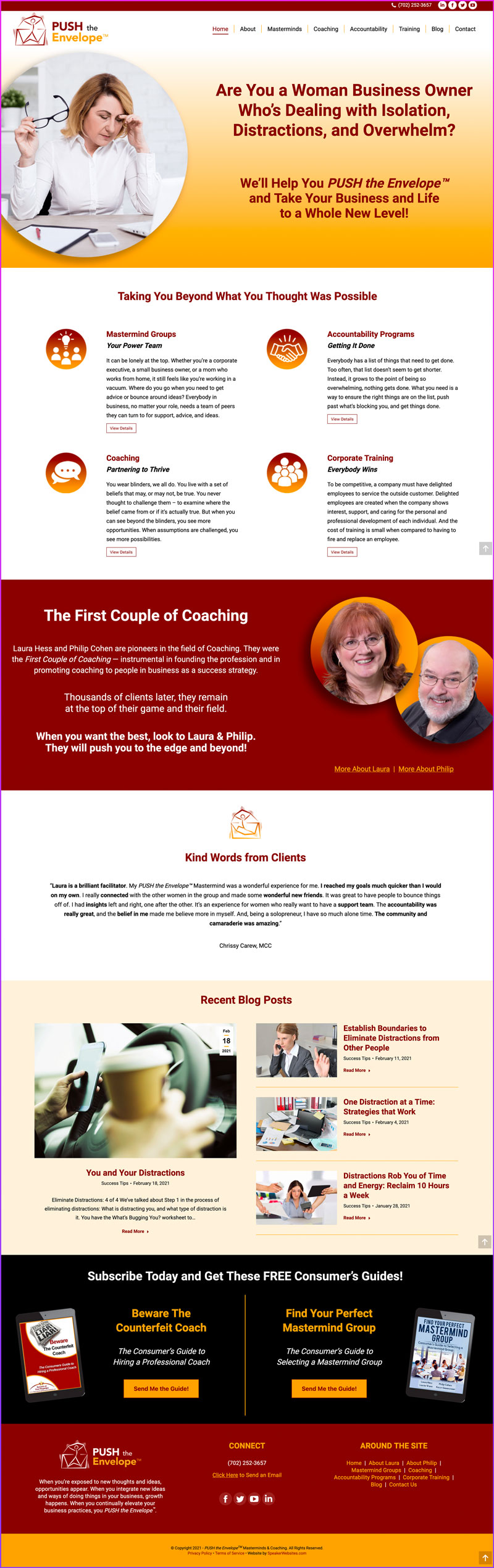 PUSH the Envelope™ Masterminds & Coaching